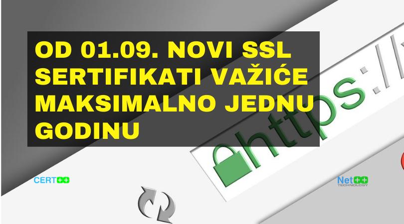 Od 01. septembra novi SSL sertifikati važiće maksimalno jednu godinu