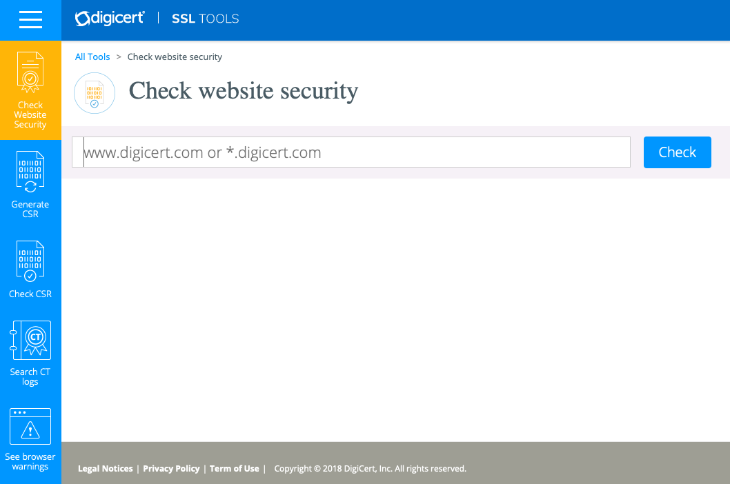 Digicert Website Security Check