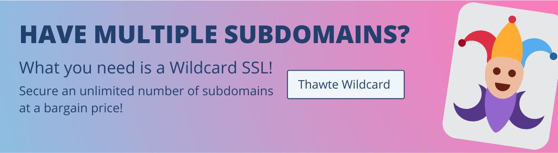 Thawte OV Wildcard