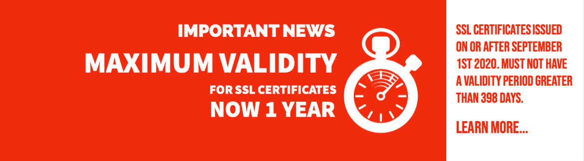 Reduced maximum allowed lifetimes of SSL certificates